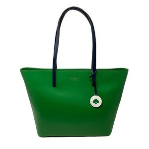 Kate Spade Tanya Leather Large Tote Bag Green Bean